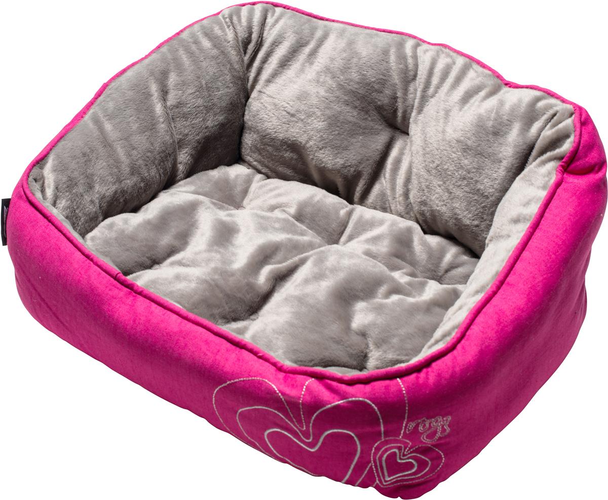 """Лежак для собак Rogz """"Luna Podz"""", цвет: розовый, 25 х 52 х 38 см"""