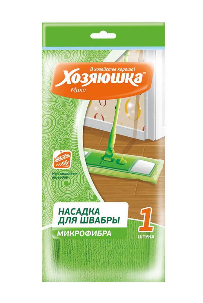 Насадка для швабры Хозяюшка Мила, микрофибра хозяюшка мила насадка для швабры флеттер м 07