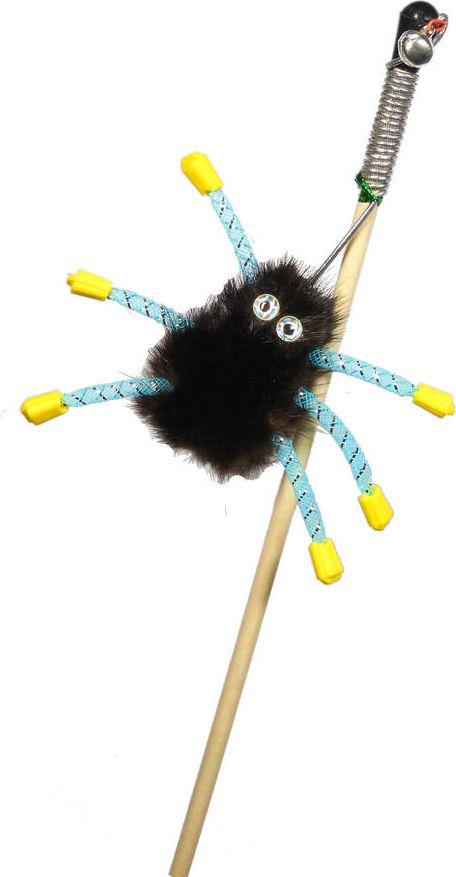 Дразнилка-удочка для кошек GoSi Норковый паук, длина 50 см игрушка дразнилка для кошек gosi лапка норки длина 50 см