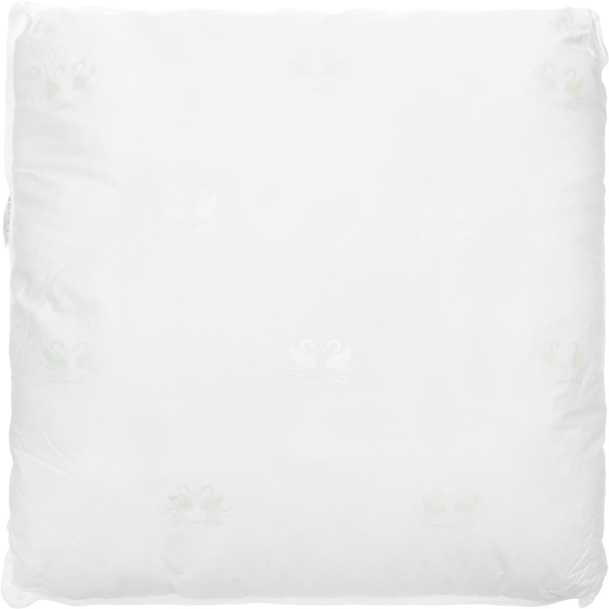 Подушка Ecotex Лебяжий пух - Премиум, наполнитель: пух, полиэстер, 68 х 68 см подушка ecotex эдда наполнитель пух 68 х 68 см
