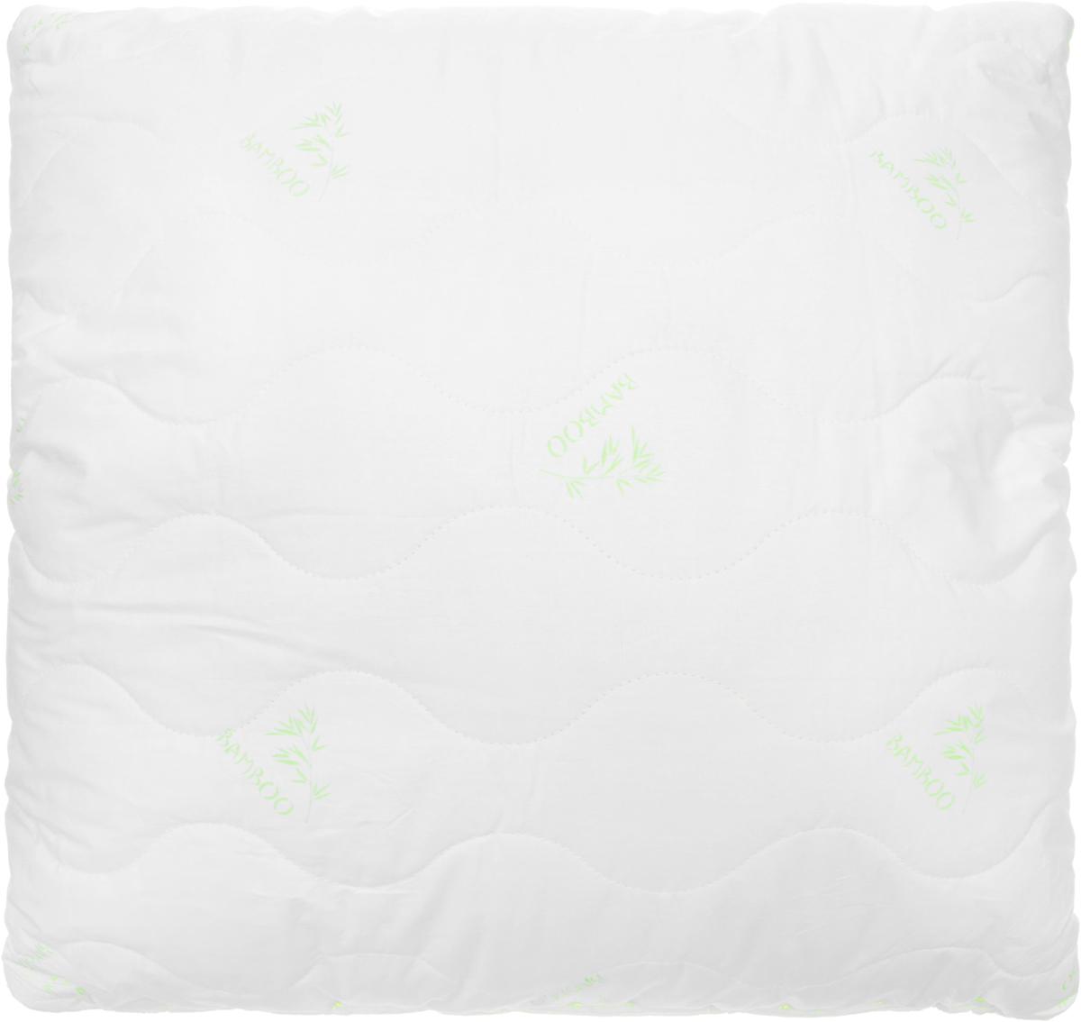 Подушка Ecotex Бамбук - Премиум, наполнитель: пух, полиэстер, 68 х 68 см подушка ecotex эдда наполнитель пух 68 х 68 см