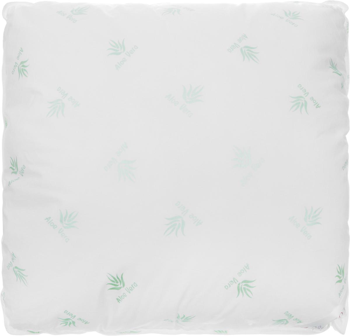 Подушка Ecotex Алоэ вера - Премиум, наполнитель: пух, полиэстер, 68 х 68 см подушка ecotex эдда наполнитель пух 68 х 68 см