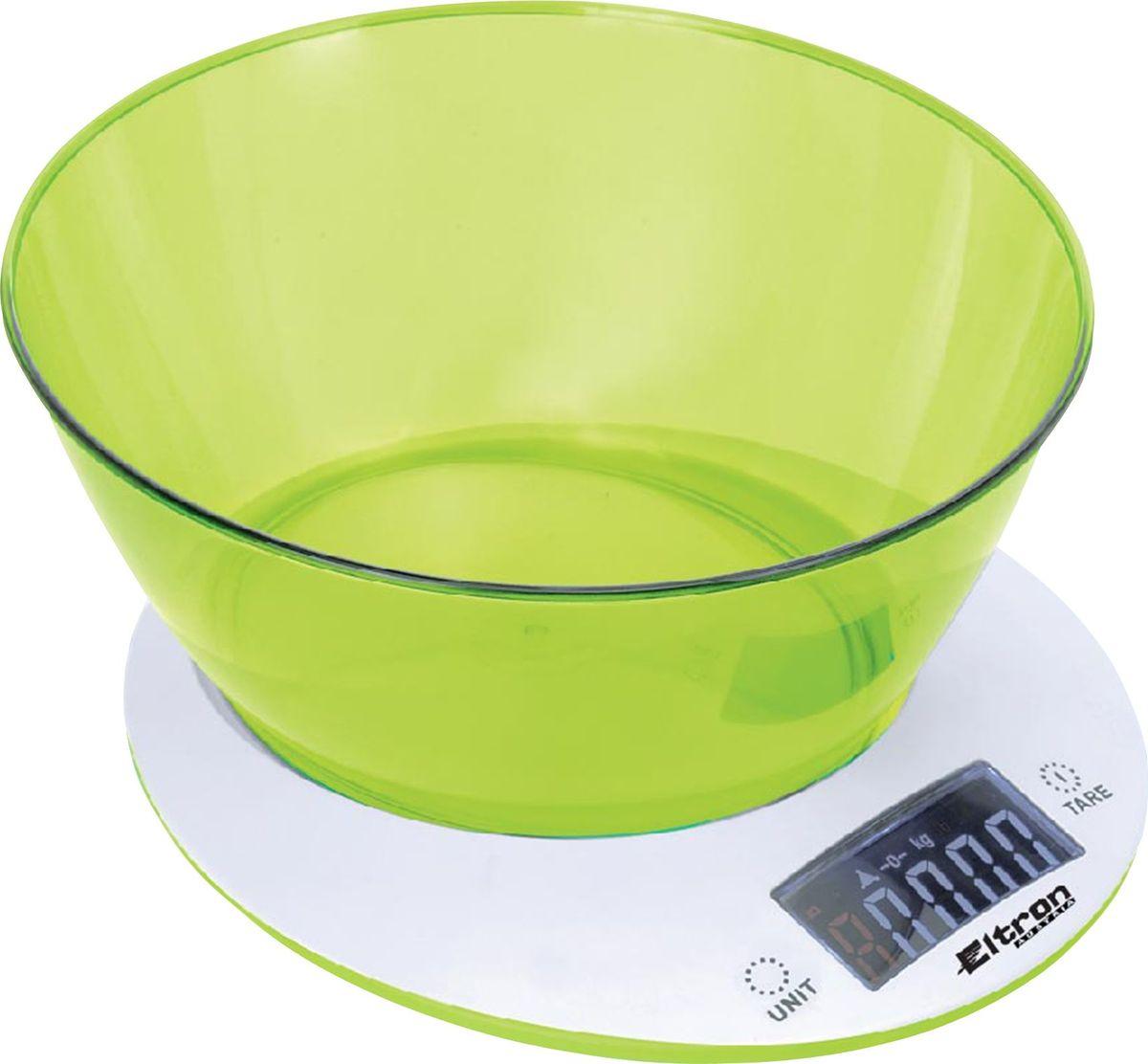 Весы кухонные Eltron, электронные, цвет: белый, до 5 кг. 9264EL весы eltron el 9219