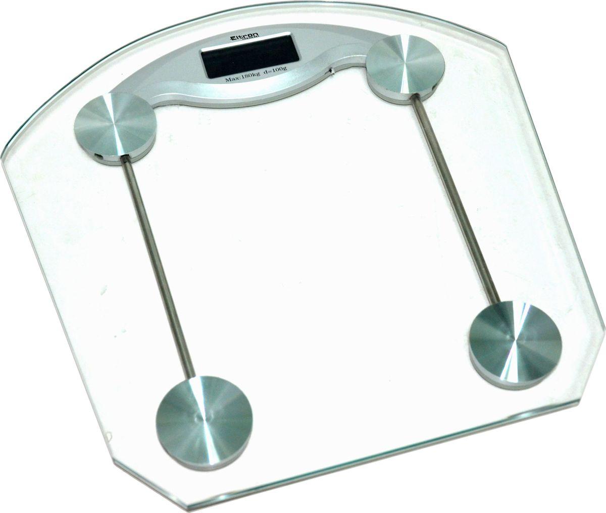 Весы напольные Eltron, электронные, цвет:прозрачный, до 180 кг. 9220EL