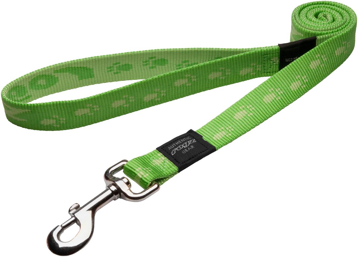 Поводок для собак Rogz Alpinist, цвет: зеленый, ширина 2,5 см. Размер XL поводок для собак rogz alpinist удлиненный цвет коричневый ширина 2 5 см размер xl hll27j
