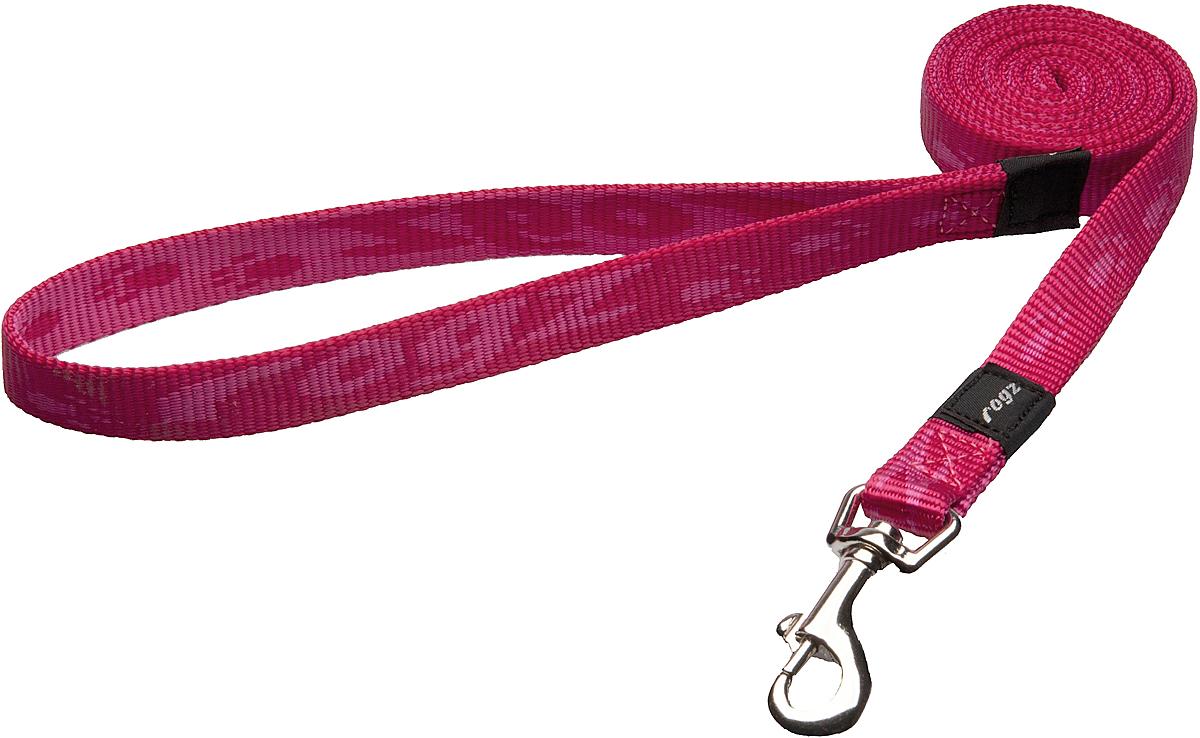 """Поводок для собак Rogz """"Alpinist"""", цвет: розовый, ширина 1,6 см. Размер M"""