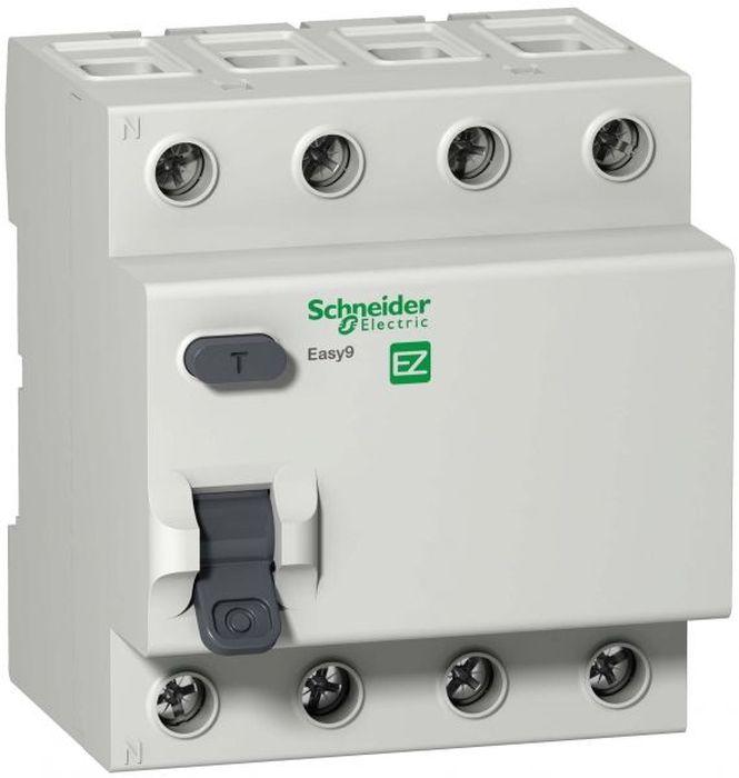 Выключатель автоматический Schneider Electric Easy 9, 4P 40А 300мА AC. SE EZ9R64440 цена