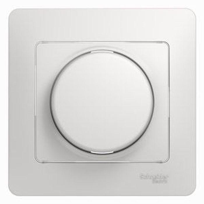 """Диммер Schneider Electric """"Glossa"""", поворотный, 300 Вт, цвет: белый, в сборе. SE GSL000134"""