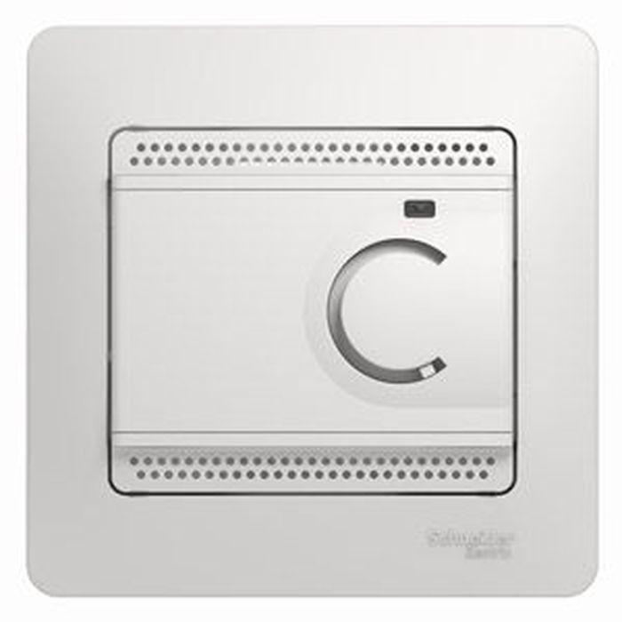 Термостат теплого пола Schneider Electric Glossa, с датчиком, 10A, цвет: белый, в сборе. SE GSL000138 sector9 лонгборд в сборе sector9 geo shoots 33 5