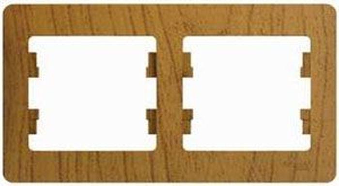 Рамка электроустановочная Schneider Electric Glossa, на 2 поста, горизонтальный монтаж, цвет: дерево дуб. SE GSL000502