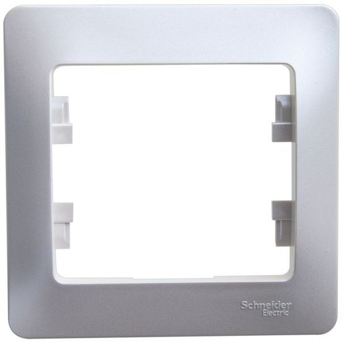 Рамка электроустановочная Schneider Electric Glossa, на 1 пост, цвет: перламутровый рамка schneider electric gsl000201 glossa