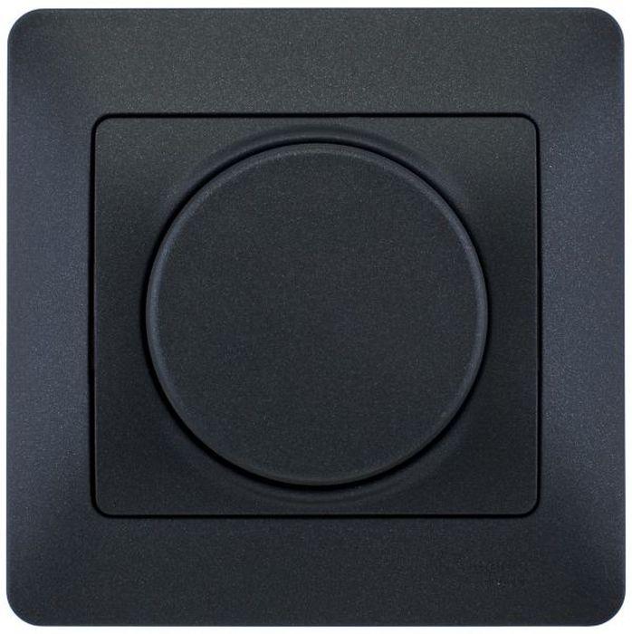 """Диммер Schneider Electric """"Glossa"""", поворотный, 300 Вт, цвет: антрацит, в сборе. SE GSL000734"""