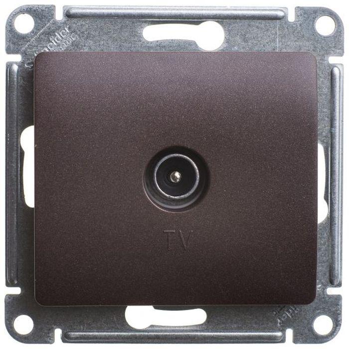 Розетка телевизионная Schneider Electric Glossa, цвет: шоколад. SE GSL000891 кабель тв вилка тв розетка антенный 3 м