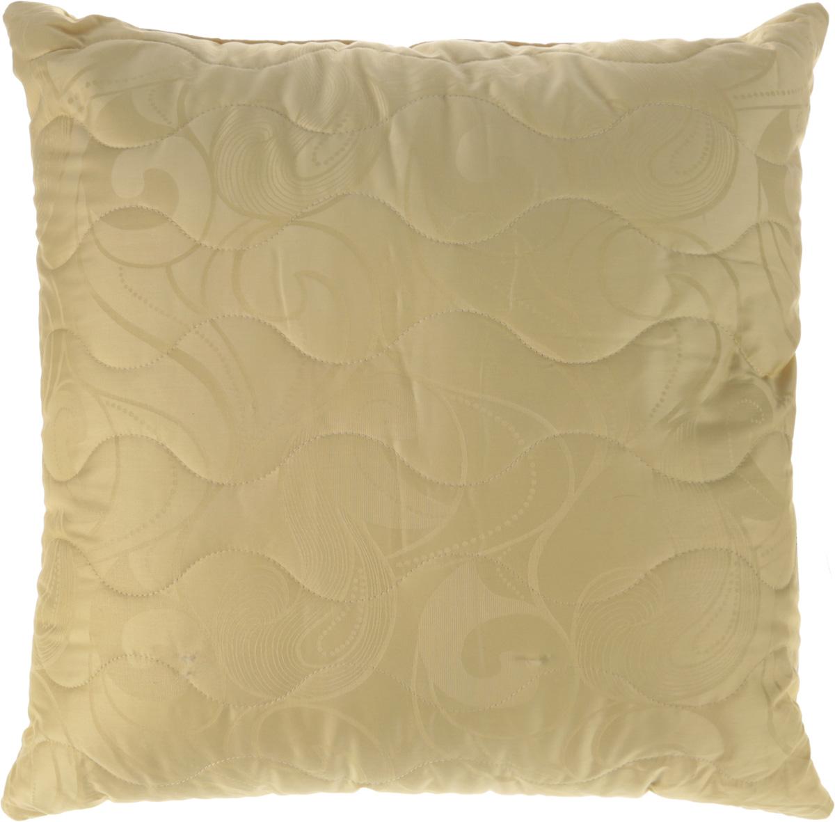 Подушка Ecotex Меринос, наполнитель: шерсть мериноса, лебяжий пух, 68 х 68 см подушка ecotex эдда наполнитель пух 68 х 68 см