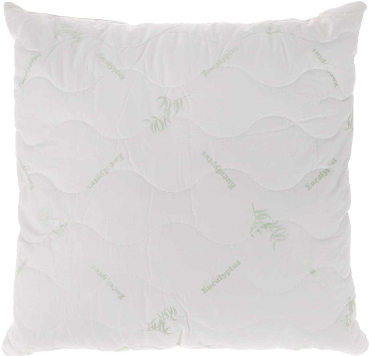 Подушка Ecotex Eucalyptus, наполнитель: эвкалиптовое волокно, полиэстер, 68 х 68 см подушка ecotex эдда наполнитель пух 68 х 68 см