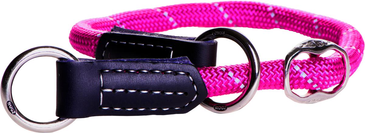 """Полуудавка для собак Rogz """"Rope"""", цвет: розовый, ширина 0,9 см, обхват шеи 35-40 см. Размер L"""