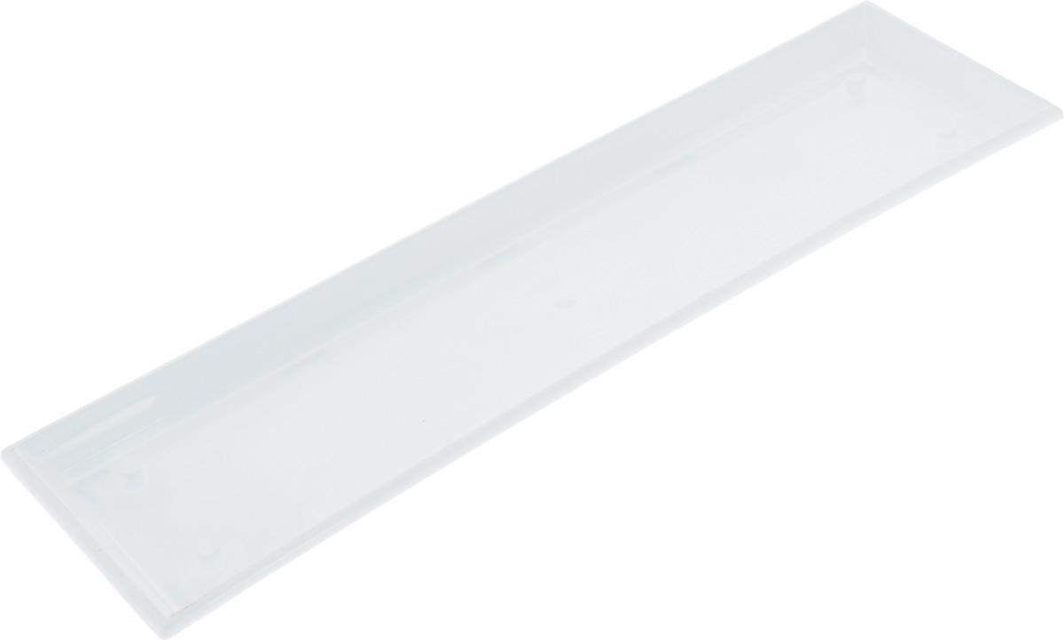 Поддон для балконного ящика Santino, цвет: белый, длина 55 см поддон для балконного ящика santino цвет белый длина 55 см