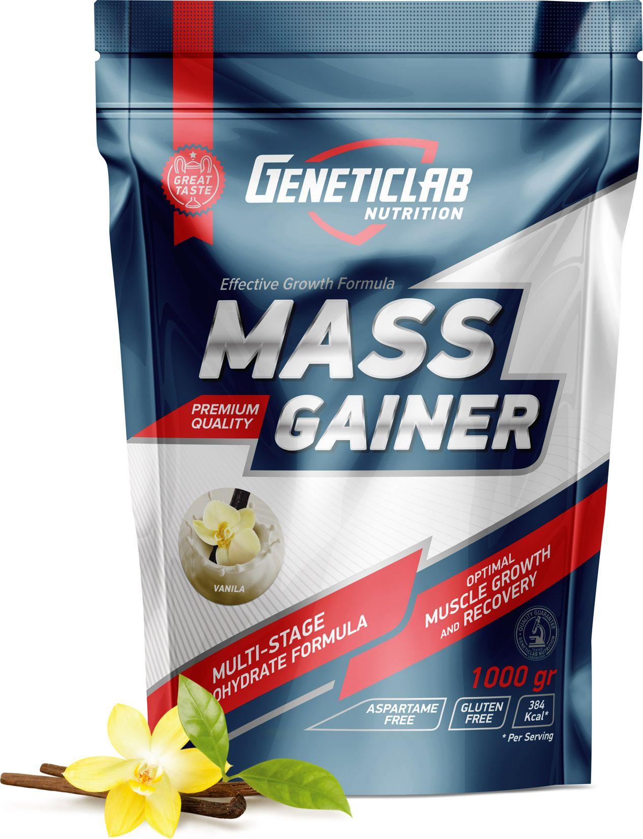 Гейнер Geneticlab Mass Gainer , ваниль, 1000 г гейнер olimp sport nutrition gain bolic 6000 ваниль 3500 г