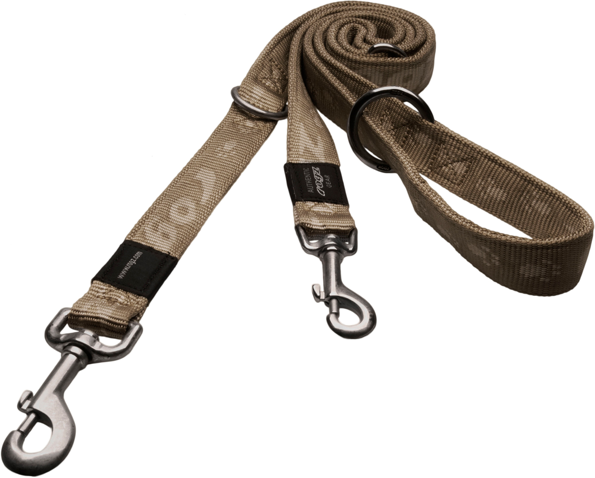 Поводок-перестежка для собак Rogz Alpinist, цвет: серый, ширина 1,1 см. Размер S поводок для собак rogz alpinist удлиненный цвет коричневый ширина 2 5 см размер xl hll27j