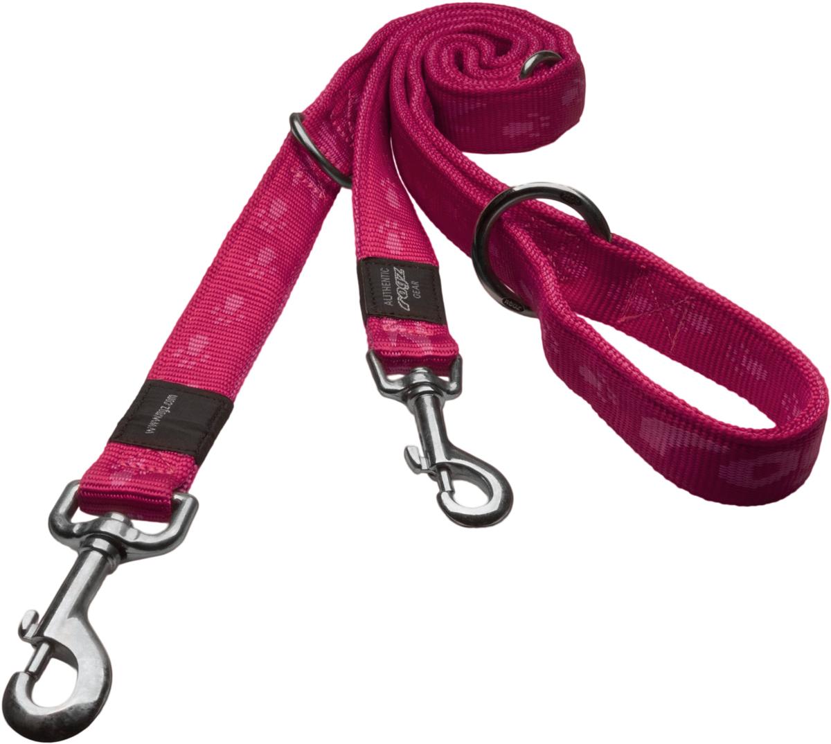 Поводок-перестежка для собак Rogz Alpinist, цвет: розовый, ширина 2,5 см, длина 1,78 см. Размер XL поводок для собак rogz alpinist удлиненный цвет коричневый ширина 2 5 см размер xl hll27j