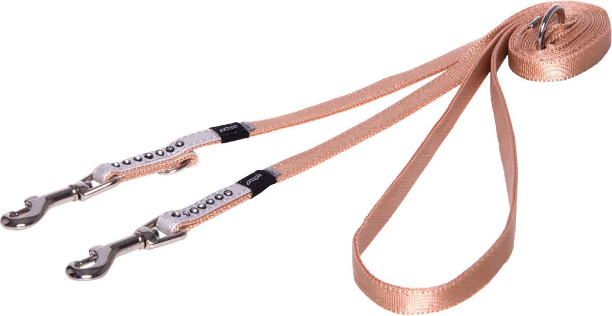 Поводок-перестежка для собак Rogz Luna, цвет: белый, ширина 1,1 см. Размер XS для собак поводок