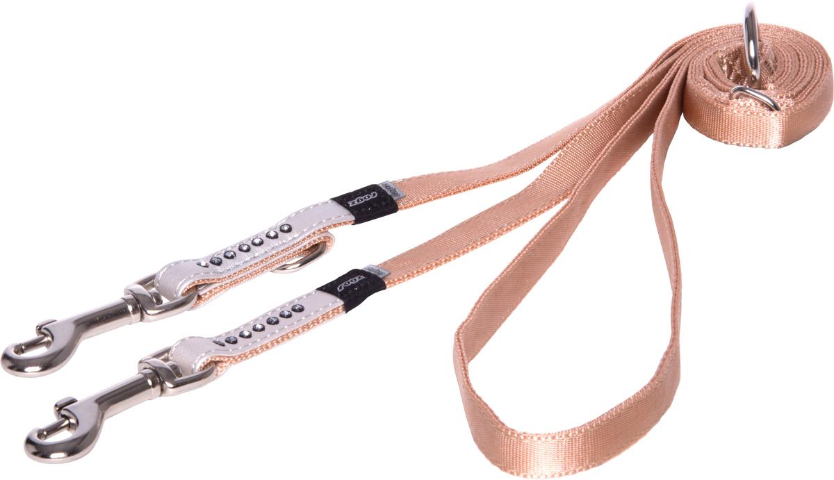 Поводок-перестежка для собак Rogz Luna, ширина 1,3 см. Размер S для собак поводок