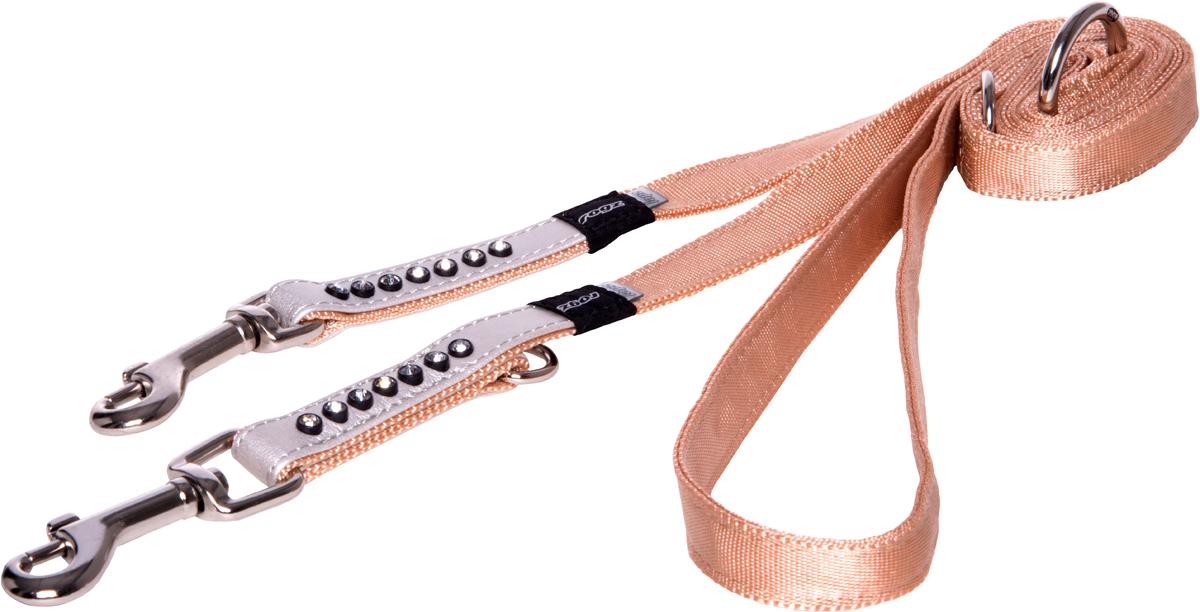 Поводок-перестежка для собак Rogz Luna, цвет: белый, ширина 1,6 см. Размер M для собак поводок