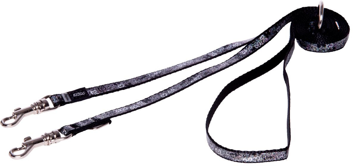 Поводок-перестежка для собак Rogz Trendy, цвет: черный, ширина 0,8 см для собак поводок