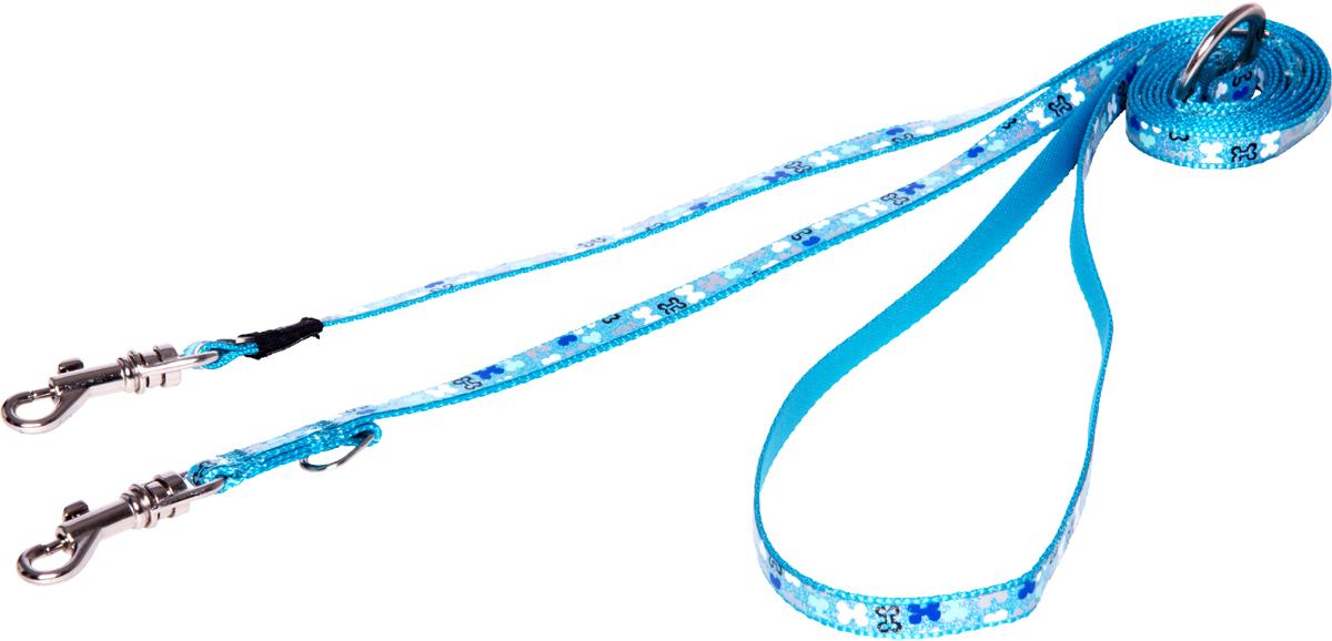 Фото - Поводок-перестежка для собак Rogz Trendy, цвет: голубой, ширина 0,8 см rogz поводок перестежка для собак rogz trendy s 12мм 2 м розовый