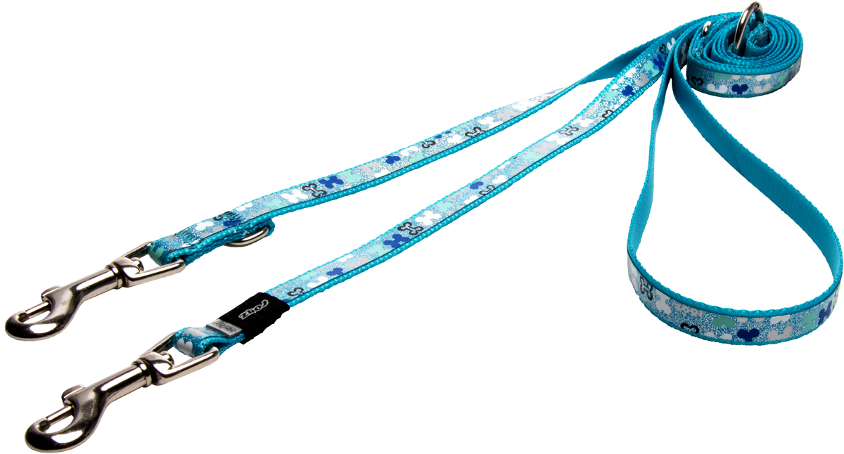 Поводок-перестежка для собак Rogz Trendy, цвет: голубой, ширина 1,2 см для собак поводок
