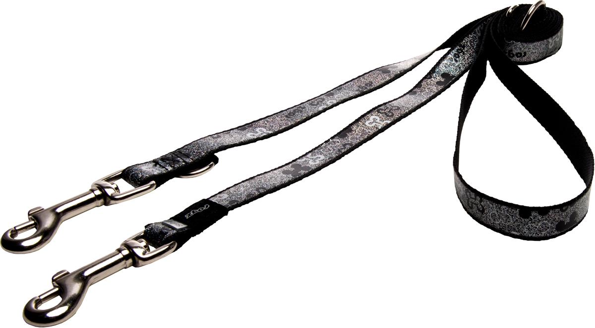 Фото - Поводок-перестежка для собак Rogz Trendy, цвет: черный, ширина 1,6 см rogz поводок перестежка для собак rogz trendy s 12мм 2 м розовый