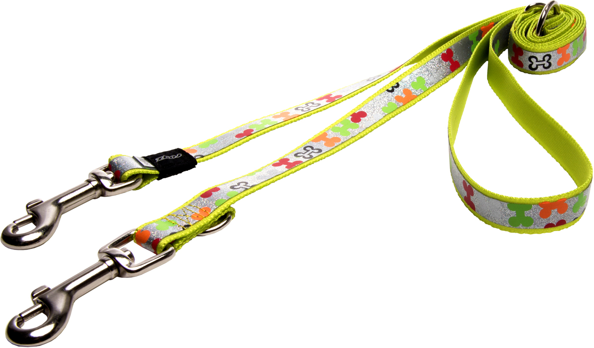 Поводок-перестежка для собак Rogz Trendy, цвет: салатовый, ширина 1,6 см для собак поводок