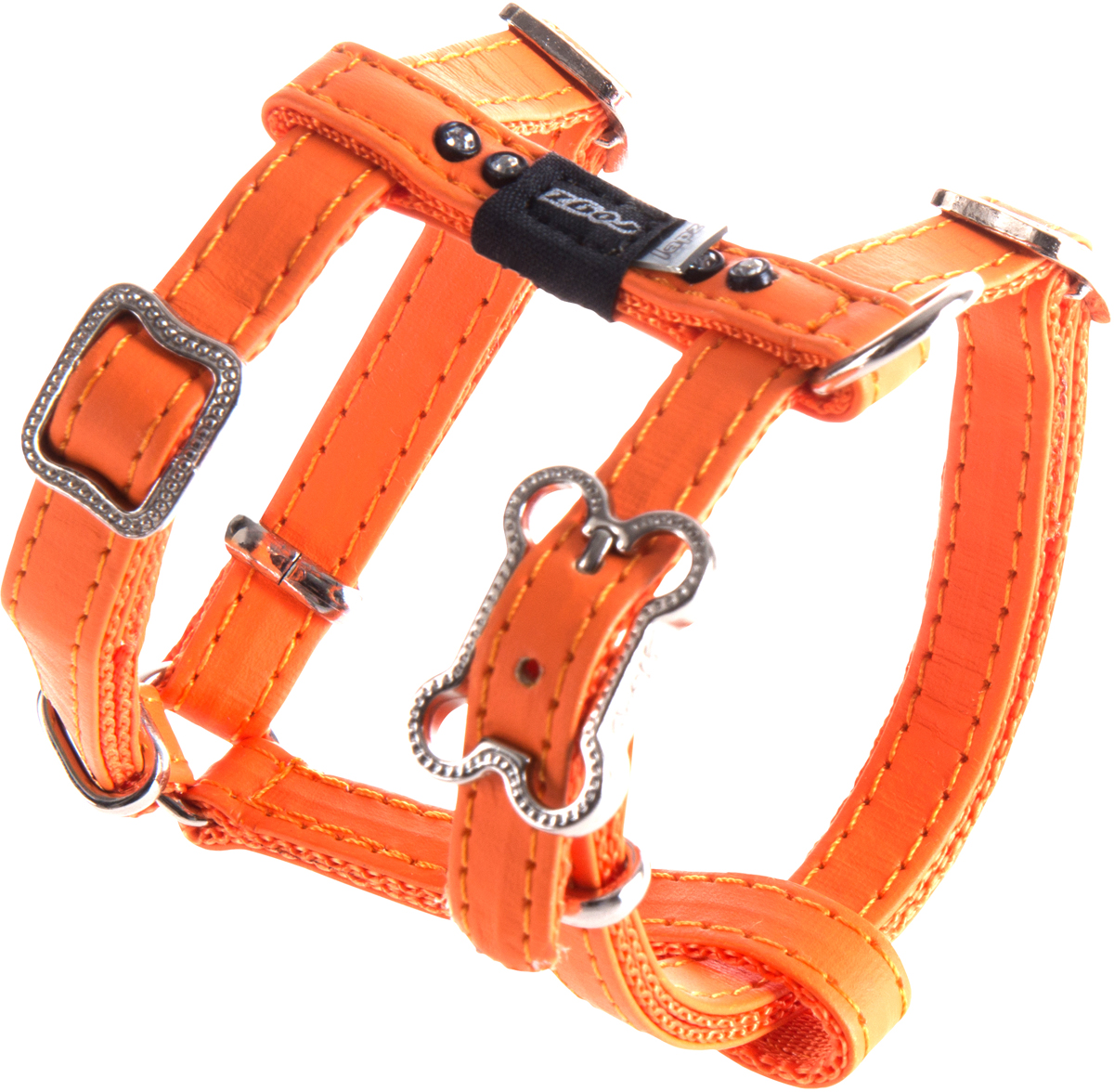 Шлейка для собак Rogz Luna, цвет: оранжевый, ширина 1,1 см. Размер XS цена