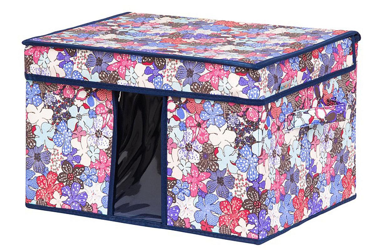 Кофр для хранения вещей EL Casa Цветочное созвездие, складной, 40 х 30 х 25 см кофр для хранения вещей el casa сияние лета складной 40 х 30 х 25 см