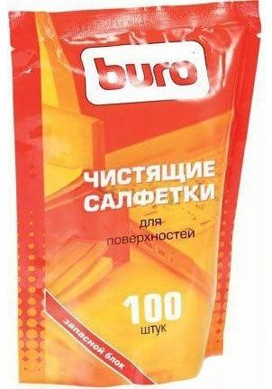 Салфетки чистящие для поверхностей Buro BU-Zsurface, 100 шт Buro