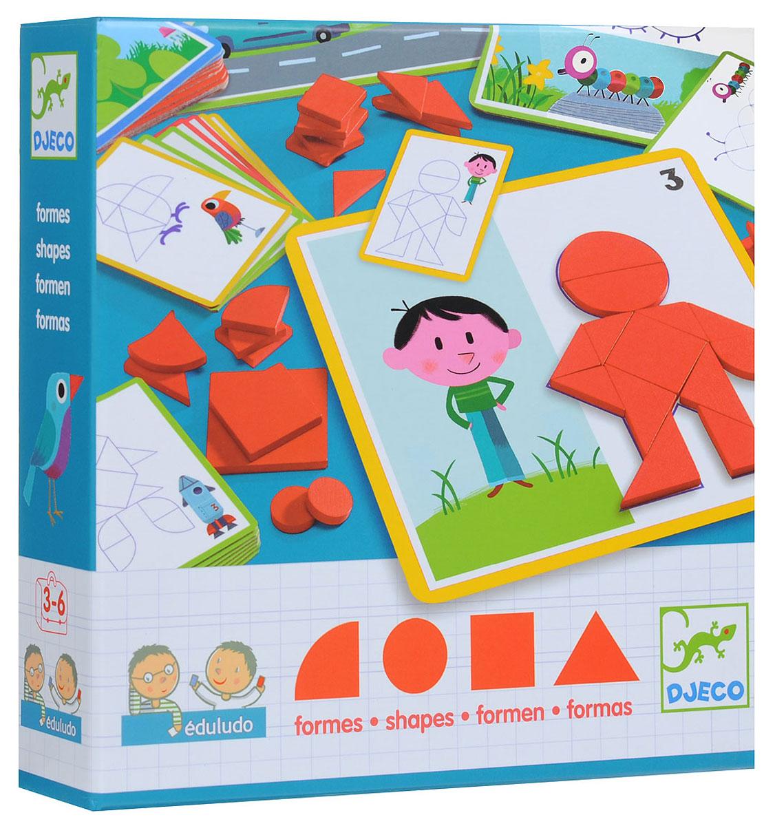 Djeco Обучающая игра Фигуры djeco обучающая игра счеты
