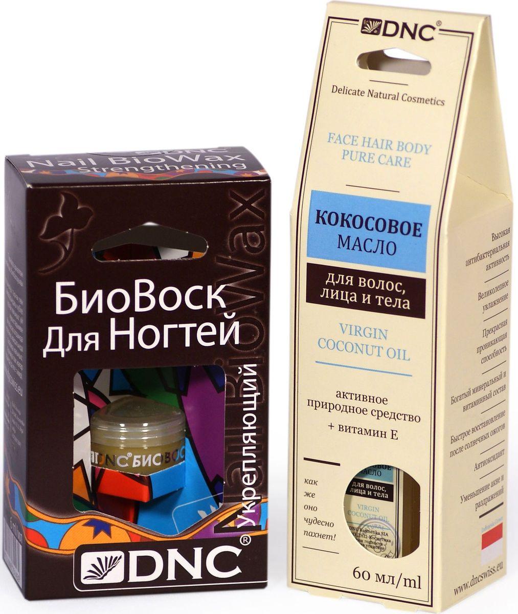 Фото - DNC Набор: Кокосовое масло, 60 мл, биовоск укрепляющий, 6 мл dnc набор кокосовое масло 60 мл гиалуроновая кислота 3 мл