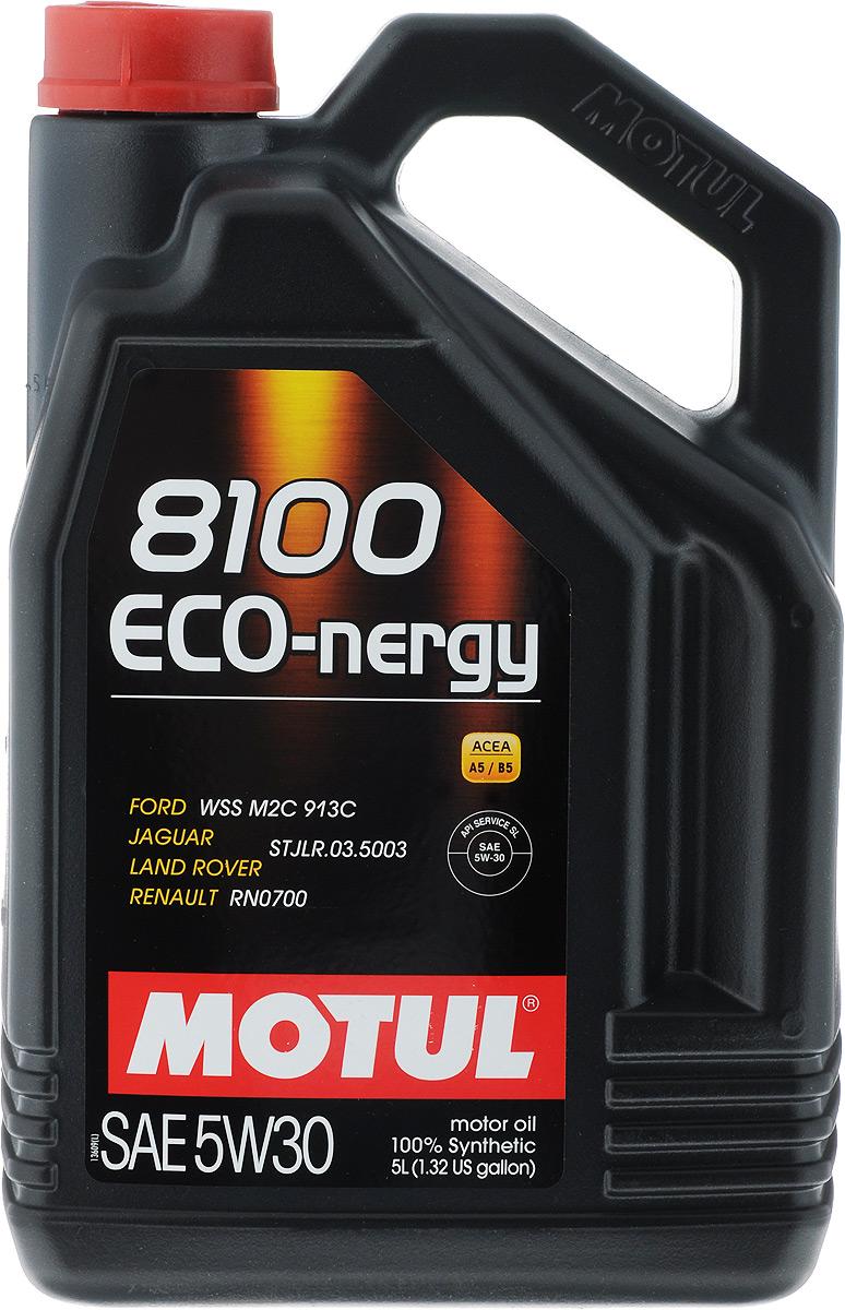"Масло моторное Motul ""8100 Eco-nergy"", синтетическое, 5W-30, 5 л"