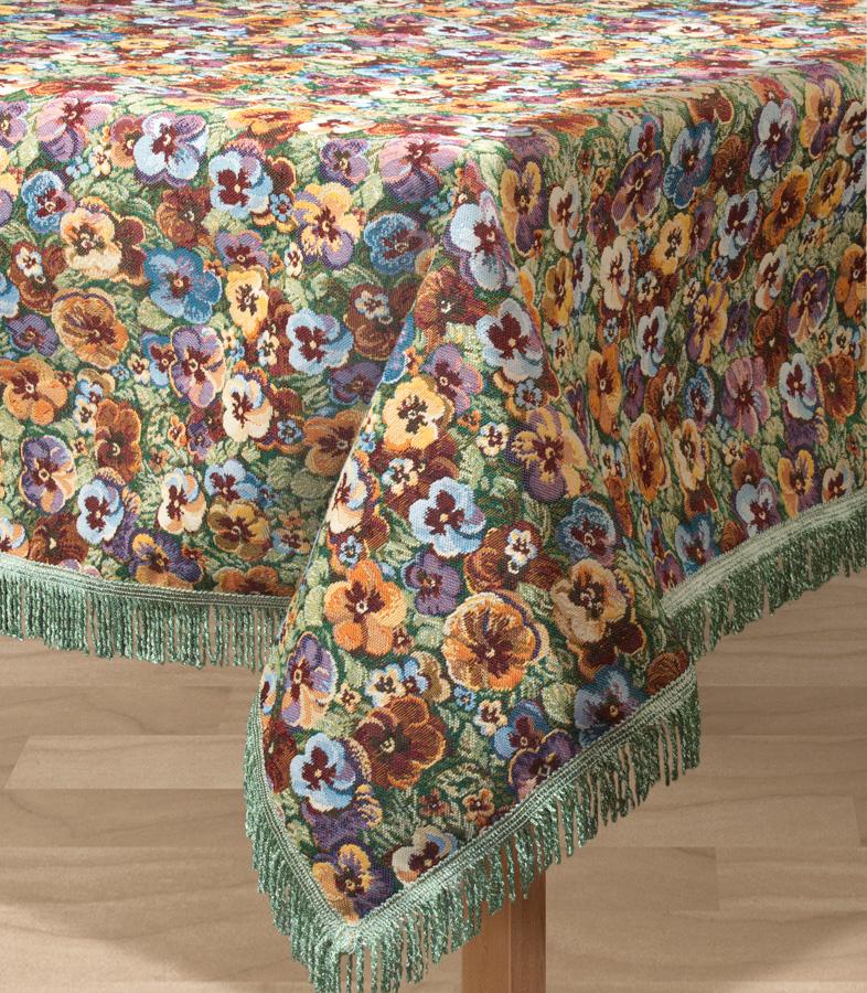 Скатерть Les Gobelins Fleurs De Jardin, квадратная, 130 х 130 см цена