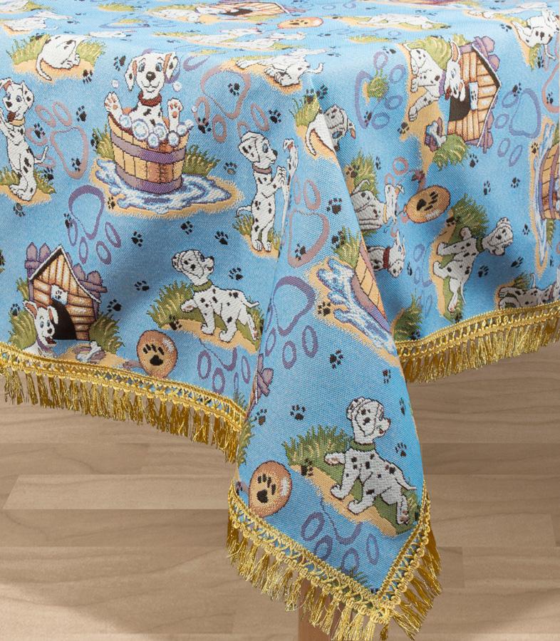 Скатерть Les Gobelins Dalmatiens, прямоугольная, 150 х 190 см покрывало на кресло les gobelins mexique 50 х 120 см