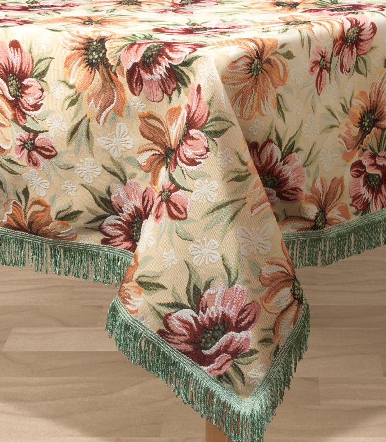 Скатерть Les Gobelins Coquelicot, квадратная, 130 х 130 см покрывало на кресло les gobelins mexique 50 х 120 см