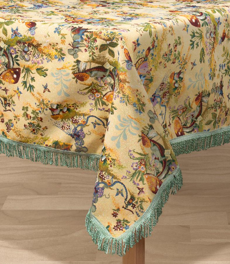 Скатерть Les Gobelins Souris Drole, прямоугольная, 150 х 190 см покрывало на кресло les gobelins mexique 50 х 120 см