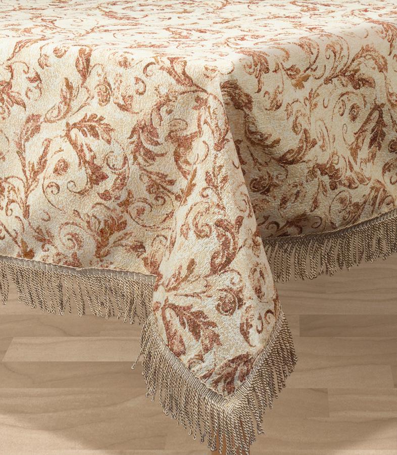 Скатерть Les Gobelins Feuilles Beiges, квадратная, 130 х 130 см покрывало на кресло les gobelins mexique 50 х 120 см