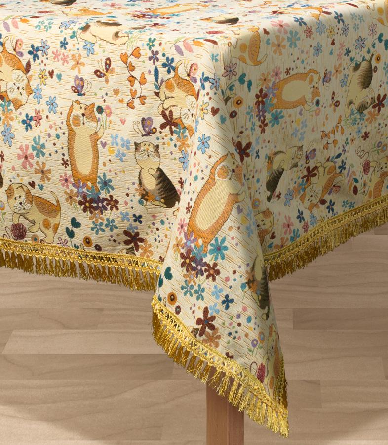 Скатерть Les Gobelins Chatons Animes, квадратная, 130 х 130 см покрывало на кресло les gobelins mexique 50 х 120 см