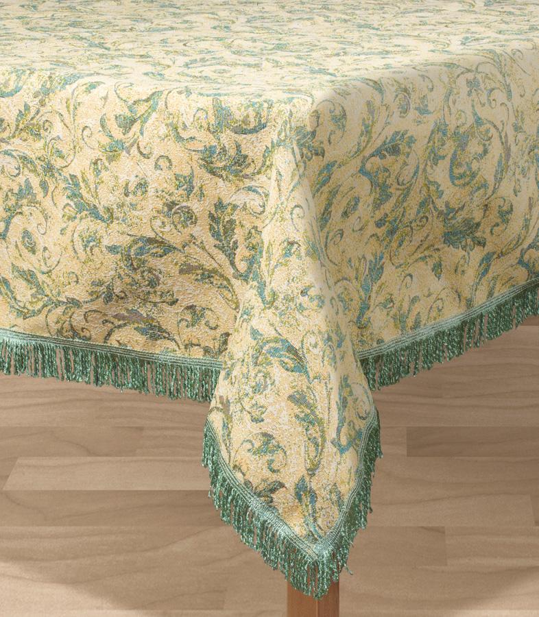 Скатерть Les Gobelins Jeune Verdure, прямоугольная, 150 х 190 см покрывало на кресло les gobelins mexique 50 х 120 см