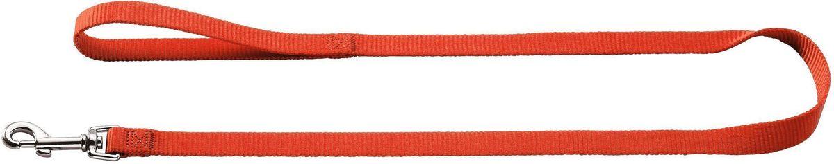 Поводок для собак Hunter Smart. Ecco, нейлоновый, цвет: красный, ширина: 10 мм, длина: 110 см hunter smart hunter smart игрушка для собак свинка сэм 10 см латекс