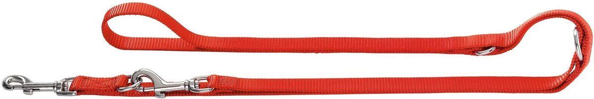 Поводок-перестежка для собак Hunter Smart Ecco, цвет: красный, длина 200 см поводок для собак hunter smart ecco цвет бирюзовый длина 110 см