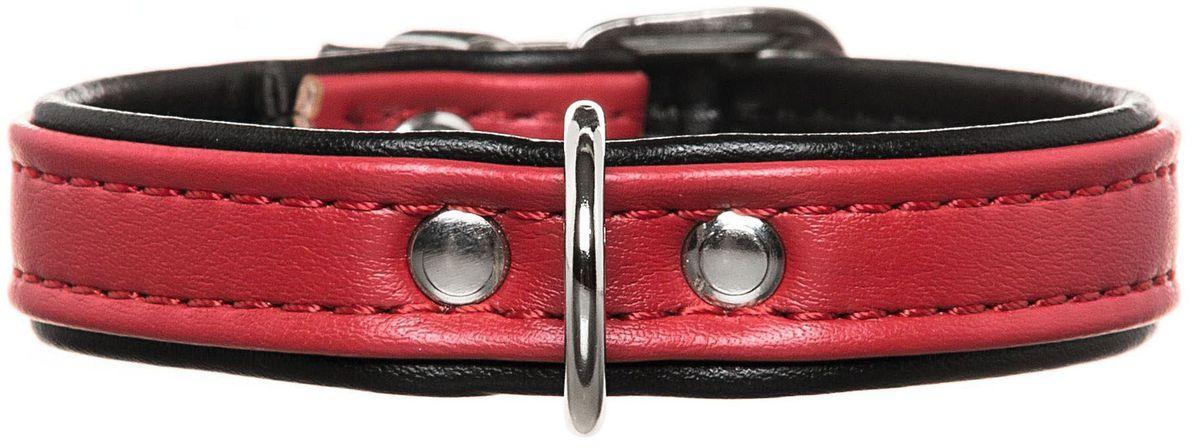 """Ошейник для собак Hunter Smart """"Modern Аrt"""", цвет: красный, черный, обхват шеи 24-28,5 см"""