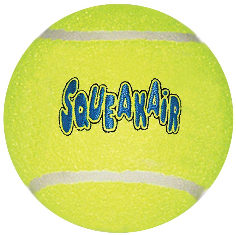 Игрушка для собак Kong Air. Теннисный мяч, очень большой, диаметр 11 см игрушка для собак kong air теннисный мяч очень маленький