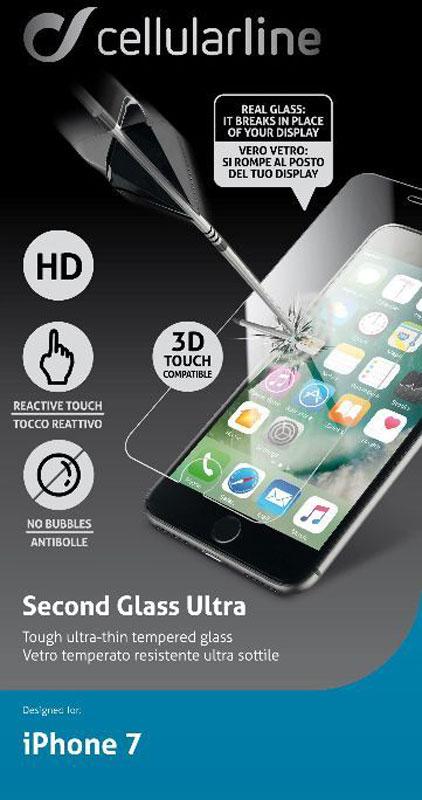 Cellular Line защитное стекло для iPhone 7/8 цена 2017